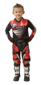 Wulfsport Kids Cub Forte Red MX Top & Pants